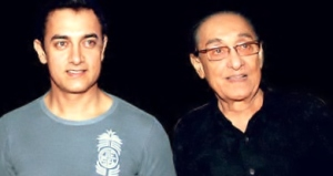 Aamir Khan with his dad Tahir Hussain