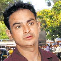 Constable Ravindra Patil when he was on duty