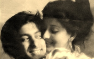 Salman Khan and Sangeeta Bijlani when they were dating