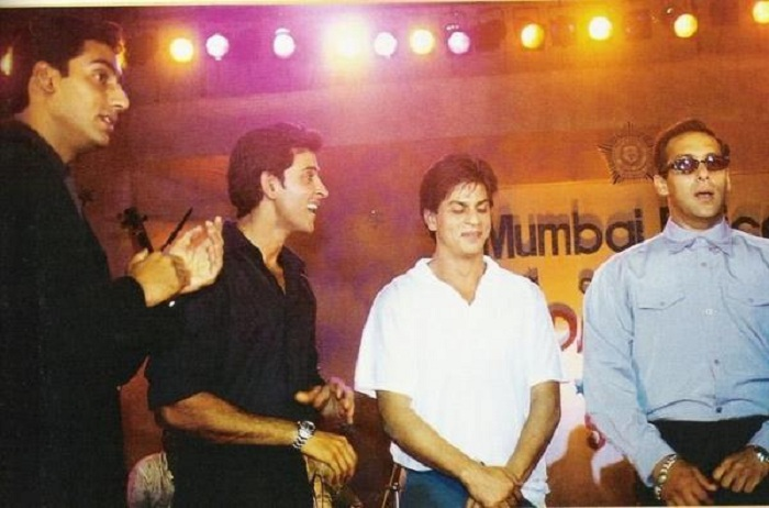 At an event with Abhishek and Hrithik