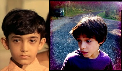 Aamir Khan when he was 9 years old and (right) Jaan when he was nine