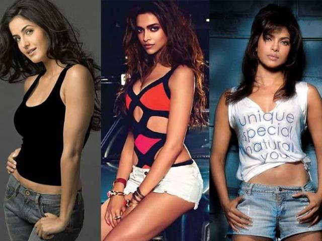 The top three heroines in Bollywood. This picture doesn't mean that one of them called me.  I have used this picture for illustration.