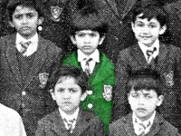 In school; class group photo; probably class III