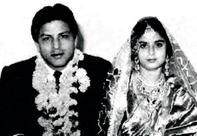 SRK's parents at the time of their wedding