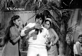 Amitabh at Namak Halal shoot 4