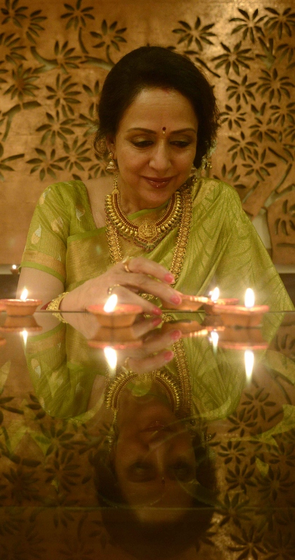 Hema Malini's first and only Diwali photo-shoot. For this blog.