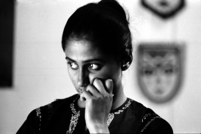 Smita Patil in a contemplative mood. This beautiful photo was clicked by NK Sareen