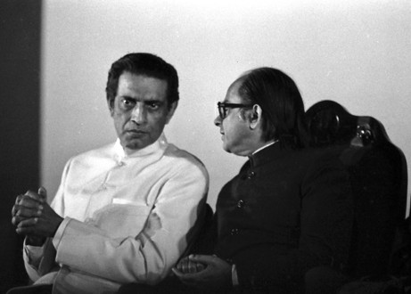 Satyajit Ray with Gujral in 1975