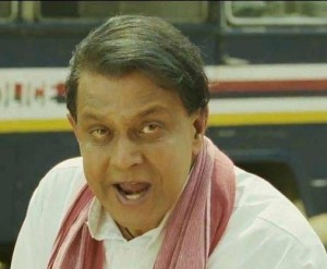 Mithun in a still from Rohit Shetty's Golmaal