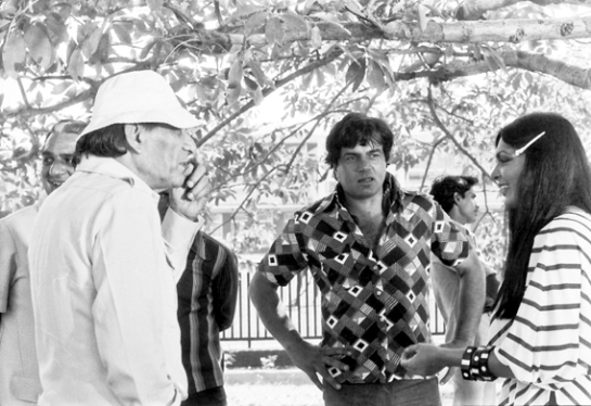 "Dharmendra in Delhi during October 1978 for the shooting of ""Burning Train'"