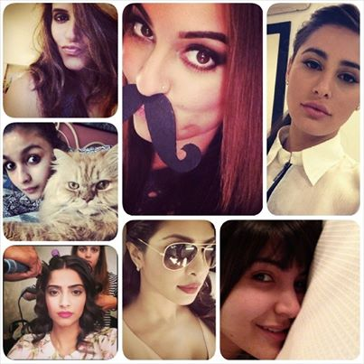 Bollywood actresses are more fun to follow on social media than the heroes.
