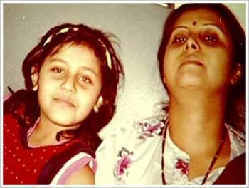 Rani Mukerji with her mother Krishna Mukherjee