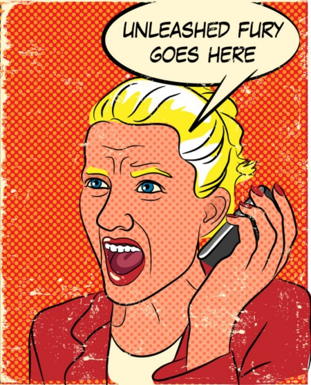 screaming woman on the phone