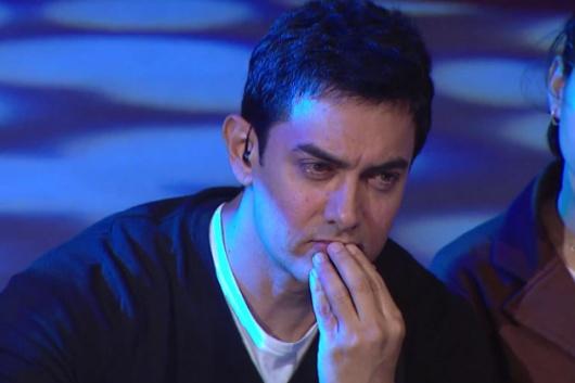 A pensive Aamir Khan at Satyamev Jayate