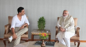 akshaykumar with Modi