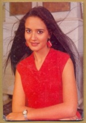 Ayesha during her early modelling days