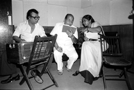 RD with Asha Bhosle and Mohammad Rafi