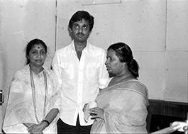 Asha Bhosle with Varsha