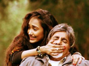 Jiah and Amitabh Bachchan