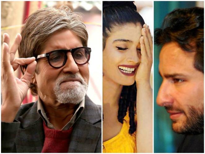 Amitabh Bachchan Saif Ali Khan Raveena tandon faces