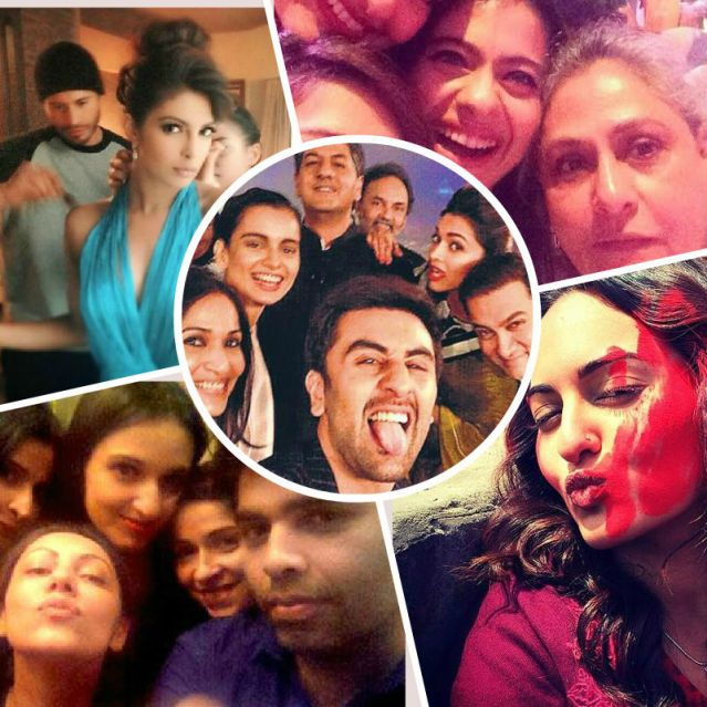 Taking selfies is a rage among all Bollywood stars. It is now a PR tool for them too. Here's a collage of some of the best Bollywood selfies.