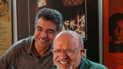 The writer with Shyam Benegal