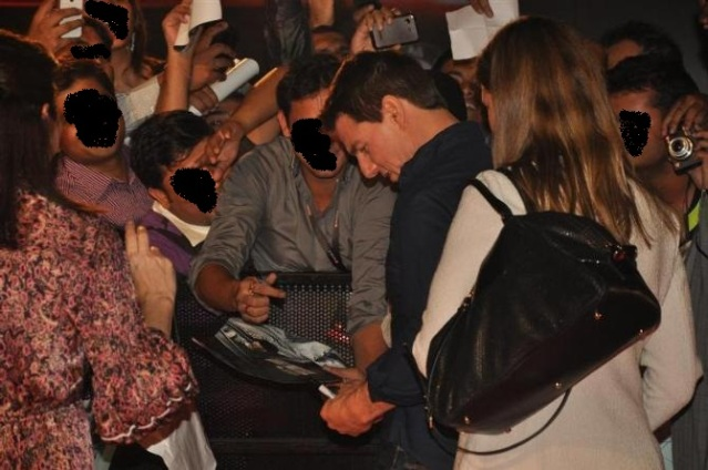 Journalists, cameramen and fans flock to get autographs from Tom Cruise when he arrived in Mumbai at an event to promoter his film in 2011. We have deliberately used an old picture and hidden some of the faces. The scene is not much different in 2014.