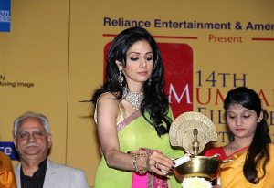 Sridevi inaugurating the MAMI festival last year