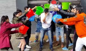 Akshay Kumar takes the ice bucket challenge while shooting in Chile