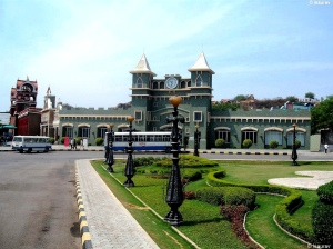 A view of the Ramoji Rao film City in Hyderabad