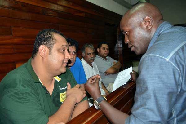 Vicky Goswami being produced in court along with the other drug cartel members. They have been remanded in police custody for 21 days. Picture Courtesy: Capital News Agency, Kenya