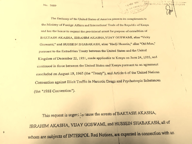 The copy of the indictment of Vicky Goswami from  Southern District Court in New York. It clearly mentions that Vicky's name is on the Interpol Red Alert notice.