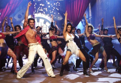 Hrithik and Aishwarya in Dhoom2. The film regarded as one of the finest examples of choreography and dance in Bollywood