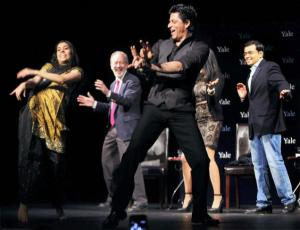 Shah Rukh Khan shows off his dancing skills at Yale University, earlier this year