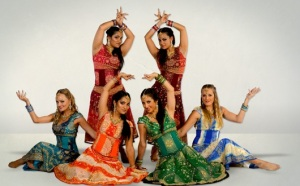 Students in a Bollywood dance academy in Australia