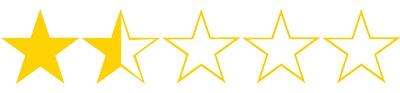 One and half stars