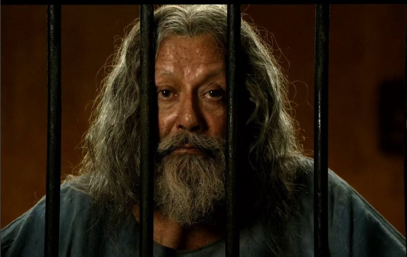 Pankaj Kapur in the title role of the film Toba Tek Singh