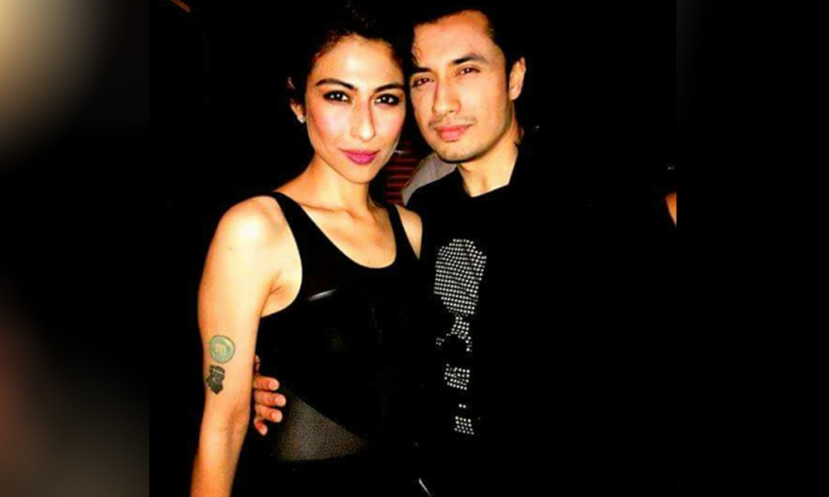 Singer Meesha Shafi and Ali Zafar when they were colleagues in the same band