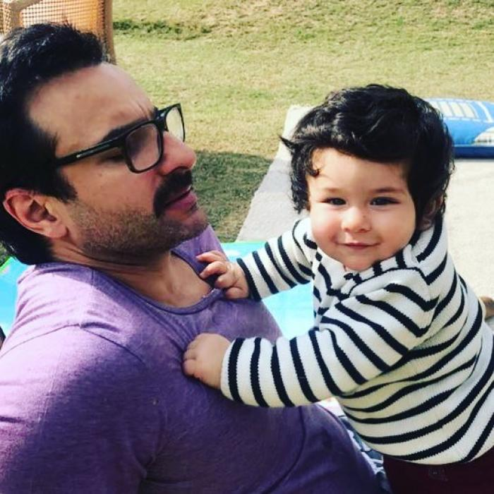 Saif Ali Khan with son Taimur