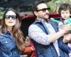 Taimur Ali Khan with dad Saif Ali Khan and mother Kareena Kapoor