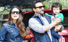 Taimur Ali Khan with dad Saif Ali Khan and mother Kareena Kapoor